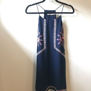 Blu Pepper Embroidered blue sundress